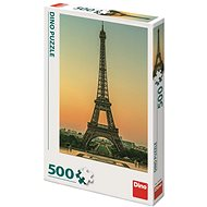 Dino Eiffel Tower at Dusk 500 puzzles