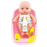 Teddies Baby Plastic 18cm with Accessories in the Tub - Doll