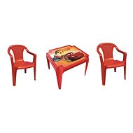 IPAE - CARS Set of 2 Red Chairs + Table