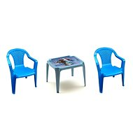 IPAE - Set of Blue 2 Chairs + FROZEN Table