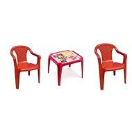 Children's Furniture IPAE - Set 2 Red Chairs + MINNIE Table