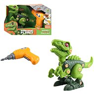 Dinosaur Friction Type, Battery Operated, 20cm Green - Building Kit