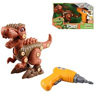 Dinosaur Friction Type, Battery Operated, 20cm Brown - Building Kit