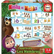 Masha and the Bear Puzzle: Numbers 10x4 pieces - Puzzle