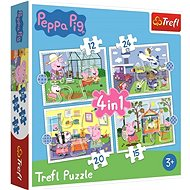 Peppa Pig Puzzle: 4-in-1 Holiday Memories (12, 15 , 20, 24 Pieces) - Puzzle