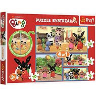 Puzzle with Finding Differences Bing Rabbit 4-in-1 (15, 15, 30, 50 pieces)