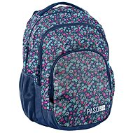 School Backpack Small Flowers