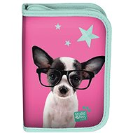 Chihuahua Pencil Case with Glasses Foldable