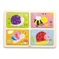 Wooden Puzzle 4-in-1 - Insects - Wooden Puzzle