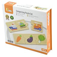 Wooden Puzzles - Sorting by Type - Wooden Toy