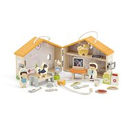 Wooden Dog Hospital with Accessories - Wooden Toy