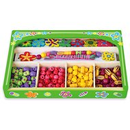 Wooden Set of Beads Flowers - Wooden Toy