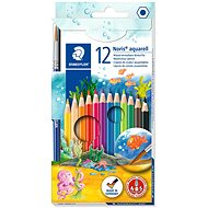 STAEDTLER Watercolour Crayons with Brush, 12 colours