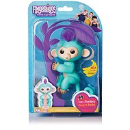 Fingerlings - Zoe Monkey, Turquoise - Interactive Toy