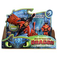 Dragons 3 Dragon and Viking - Orange - Figurine