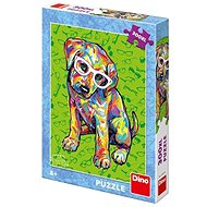 Dino Puppy with glasses - Puzzle