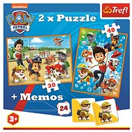 Puzzle 2in1 + memory game Paw patrol