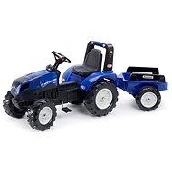 New Holland T8 pedal tractor blue with flatbed - Pedal Tractor
