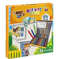 Children's briefcase, mix of products 64 pcs + 36 pcs of stickers - Creative Kit