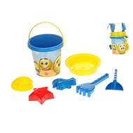 Set of sand smileys in a net - Sand Tool Kit