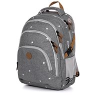 Backpack OXY SCOOLER Gray triangles - School Backpack