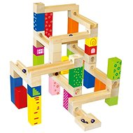 Construction - ball track, 66pc - Wooden kit
