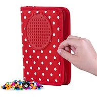 Pixie Crew school pencil case red fabric with white dots - Pencil Case