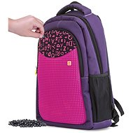 Pixie Crew Student Backpack Purple with Letters
