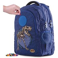 Pixie Crew student backpack dino blue - School Backpack