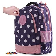 Pixie Crew student backpack blue with white dot