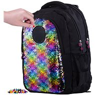 Pixie Crew student backpack with sequins