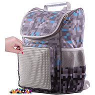 Pixie Crew school minecraft briefcase gray-blue