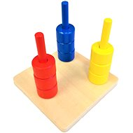 Coloured Rings on 3 Pins - Educational Toy