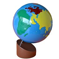 Globe - Coloured Continents - Educational Toy