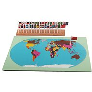 World - Map with Flags (on Stand) - Educational Toy