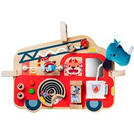 Lilliputiens - Wooden Panel with Activities - Fire Truck - Educational Toy