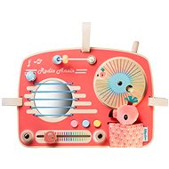 Lilliputiens - wooden panel with activities - radio - Educational Toy