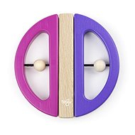 Magnetic toy TEGU - Swivel Bug - Pink Purple - Wooden Toy
