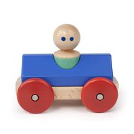 Magnetic toy car TEGU - Blue Poppy Racer - Wooden Toy