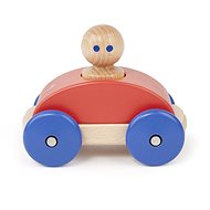 Magnetic toy car TEGU - Poppy Blue Racer - Wooden Toy