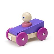Magnetic toy car TEGU - Purple Racer - Wooden Toy
