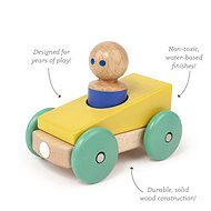 Magnetic toy car TEGU - Yellow Teal - Wooden Toy