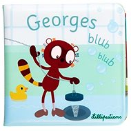 Lilliputiens - lemur Georges - a book in the water