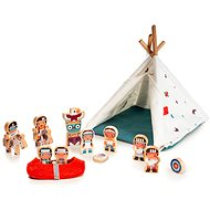Lilliputiens - Wigwam and Indians - Toddler Toy