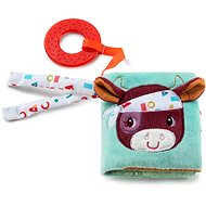 Lilliputiens - Farm - Textile Book with a Teether - Baby Rattle & Teether