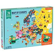 Geography Puzzle - Map of Europe (70pcs) - Puzzle
