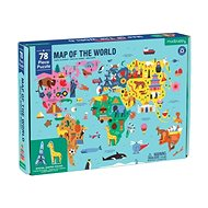 Geography Puzzle - World Map (78 pcs)