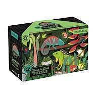 Glowing puzzle - Frogs and lizards (100 pcs) - Puzzle
