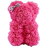 Rose Bear Pink Teddy Bear Made of Roses 25cm - Rose Bear