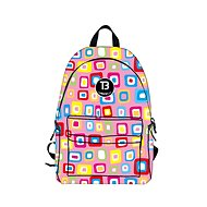 TopBags Girl's school backpack Coolast TB Cool Squares - School Backpack
